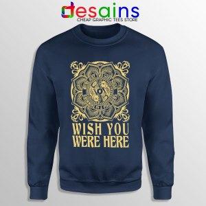 Wish You Were Here Art Navy Sweatshirt Pink Floyd Band