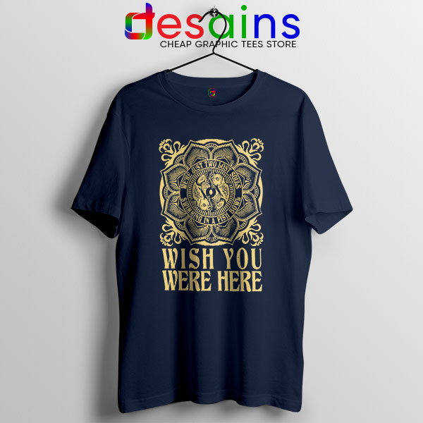 Wish You Were Here Art Navy T Shirt Pink Floyd Band