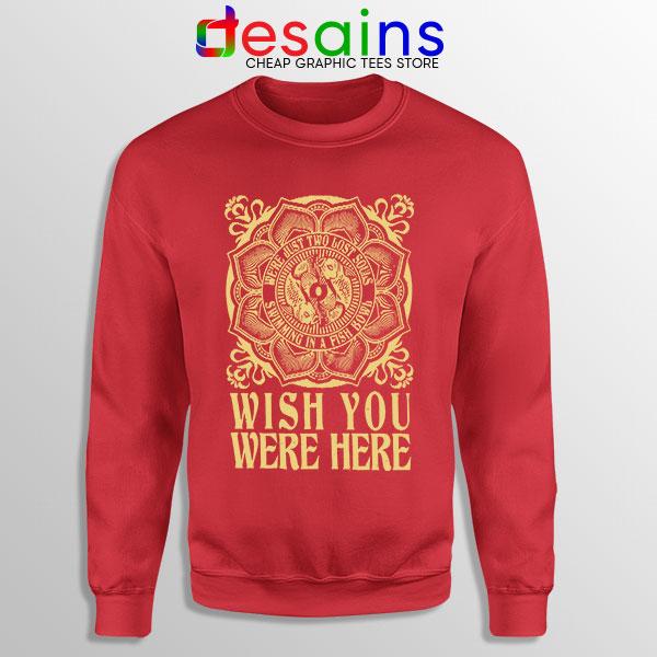 Wish You Were Here Art Red Sweatshirt Pink Floyd Band