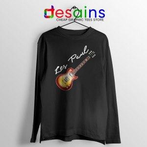 Classic Gibson Les Paul Long Sleeve Tee Guitar