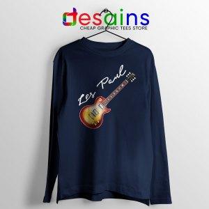 Classic Gibson Les Paul Navy Long Sleeve Tee Guitar