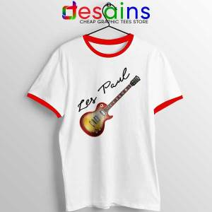 Classic Gibson Les Paul Red Ringer Tee Guitar Vintage
