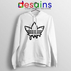 Funny Cannabis Three Stripes Hoodie Adidas Parody