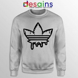Funny Cannabis Three Stripes Sweatshirt Adidas Parody