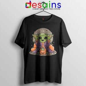 Funny Pumpkin Baby Yoda Halloween Tshirt Mandalorian