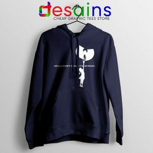 Girl With Cream Wu Tang Navy Hoodie Life As A Shorty