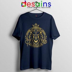 Houses of Hogwarts Lion Navy Tshirt Gryffindor