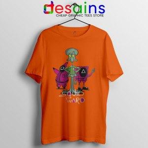 Squidward Squid Game Meme Face Orange Tshirt Funny
