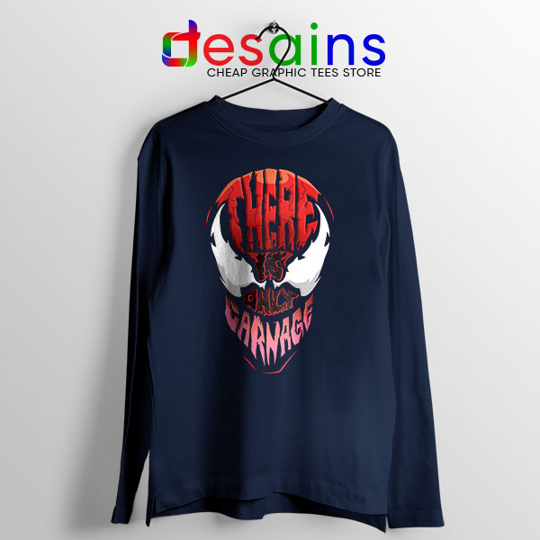 There is Only Carnage Navy Long Sleeve Tee Symbiote Comics