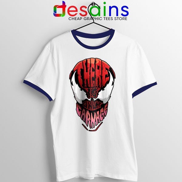 There is Only Carnage Navy Ringer Tee Symbiote Comics