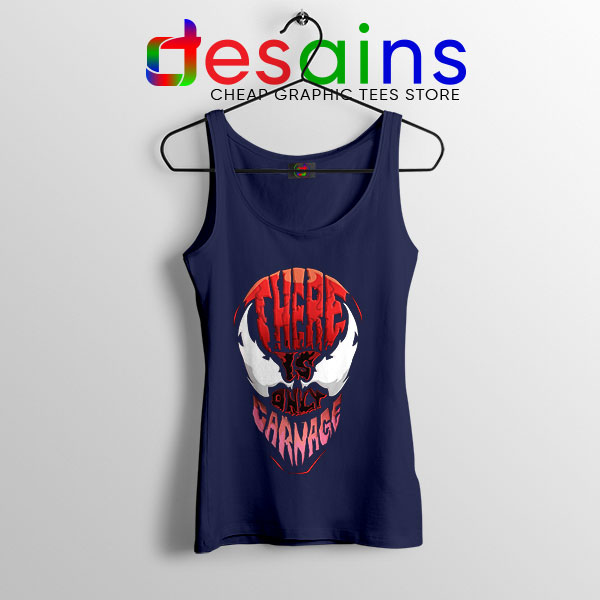 There is Only Carnage Navy Tank Top Symbiote Comics