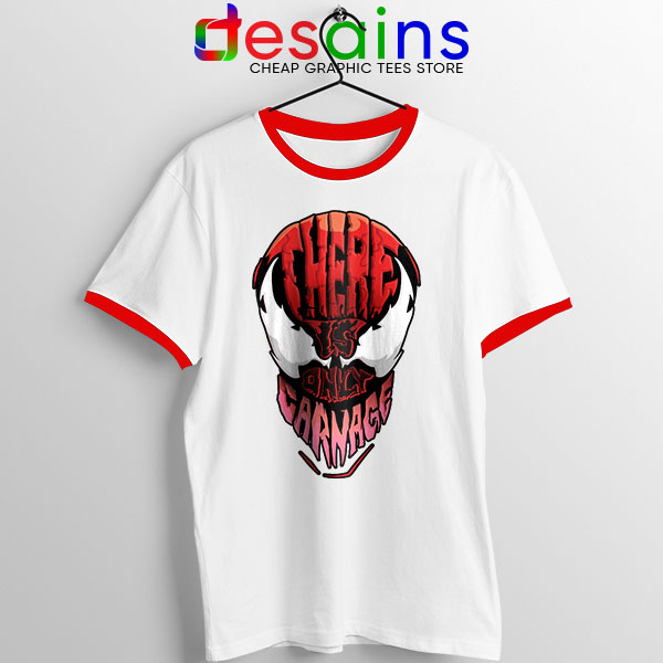 There is Only Carnage Red Ringer Tee Symbiote Comics
