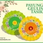 Desain, Ilustrasi, Sketsa Payung-Geulis-Tasik-Vector-desaintasik