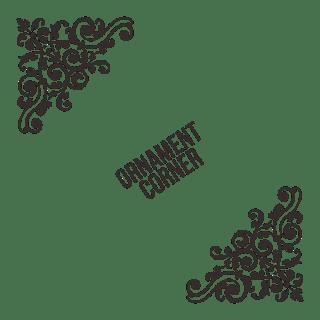 Ornament pojok vector cdr