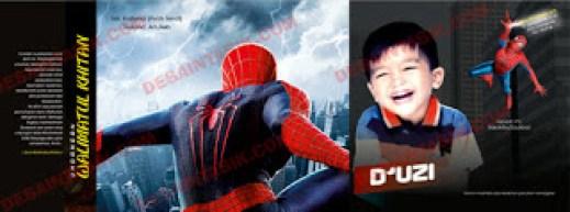 Koleksi Contoh serta Inspirasi Desain Undangan KHitanan Full Warna dan Hitam Putih Terbaru Spiderman
