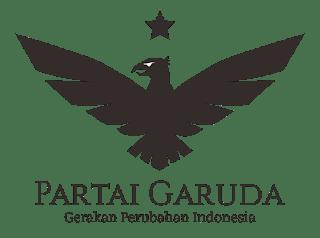Logo Partai Garuda Hitam Putih PNG
