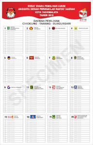 Contoh Surat Suara Caleg Dprd Pemilu Tahun 2019 Download