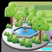 icon gambar taman