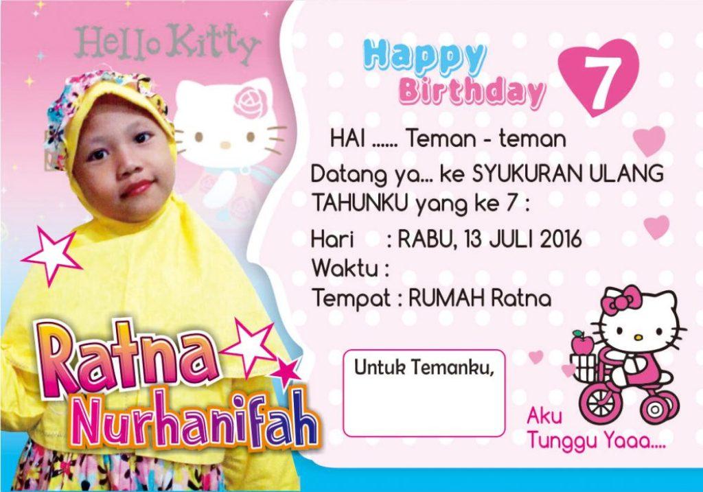 desain undangn ulang tahun hello kitty