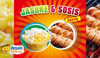 Contoh desain banner jasuke dan sosis