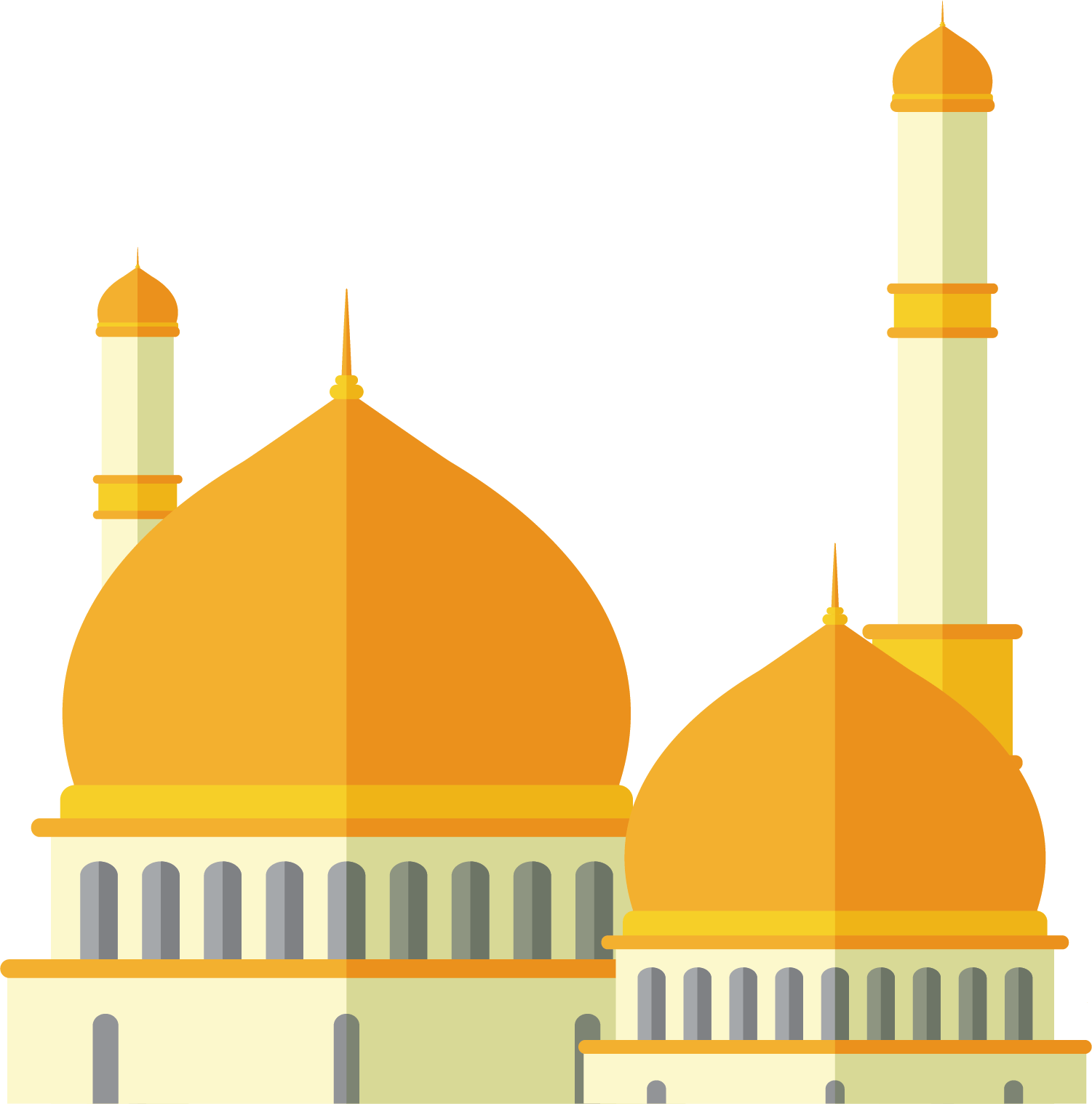 17 Gambar Masjid Mosque Kartun Vector Png Keren Desaintasik Com