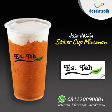 Contoh Desain Stiker Transparan Untuk Cup Minuman Es Teh / Thai tea