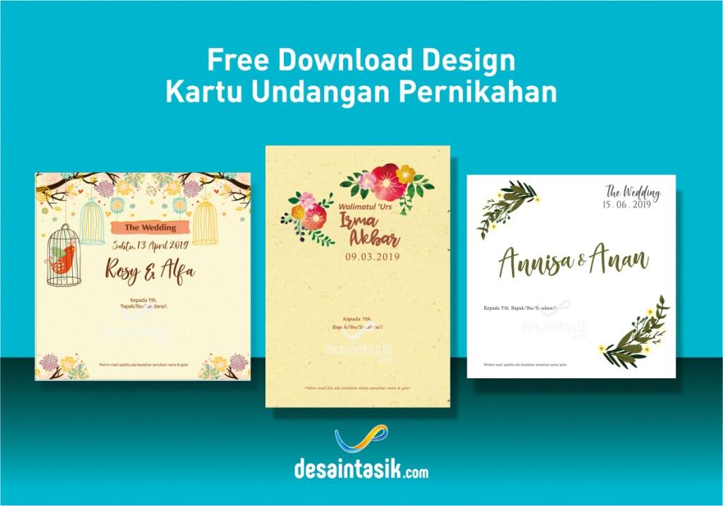 desaintasik-download desain undangan pernikahan vector