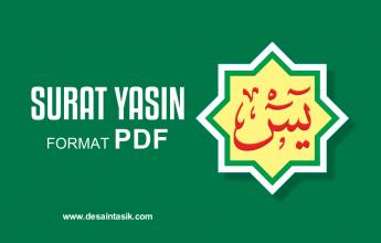 Download Desain Cover Yasin Vector Cdr Desaintasik Com
