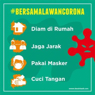 Poster lawan Corona