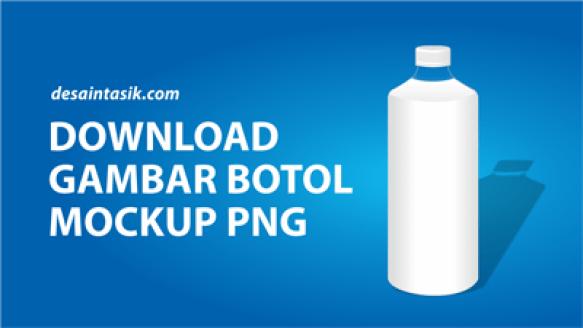 Download Gambar Botol Mockup Vector PNG