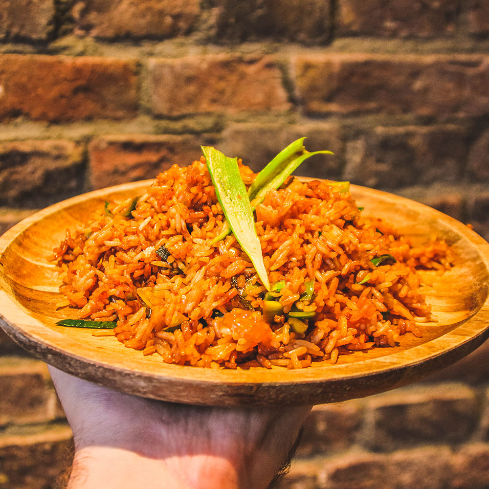 Los portie nasi goreng van De Satebakkers in Venlo