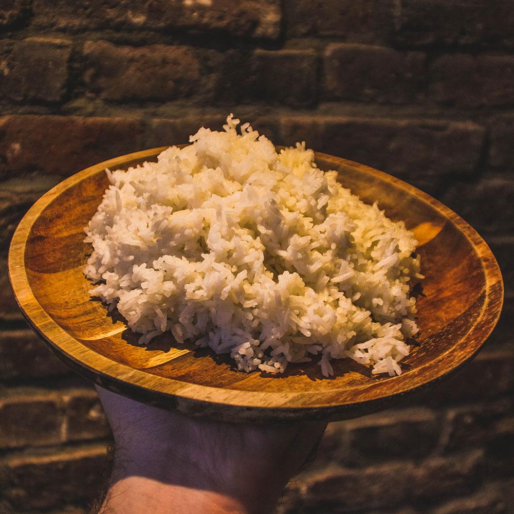 Los portie witte rijst van De Satebakkers in Venlo