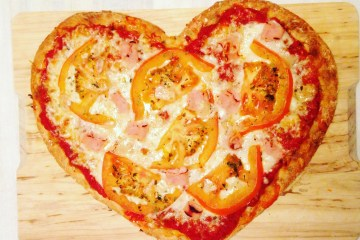 pizza corazon