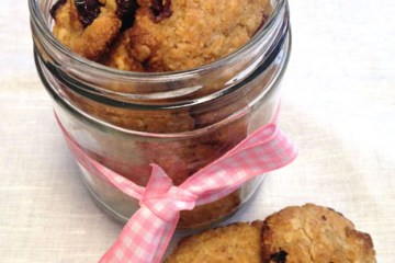 galletas de avena y arandanos