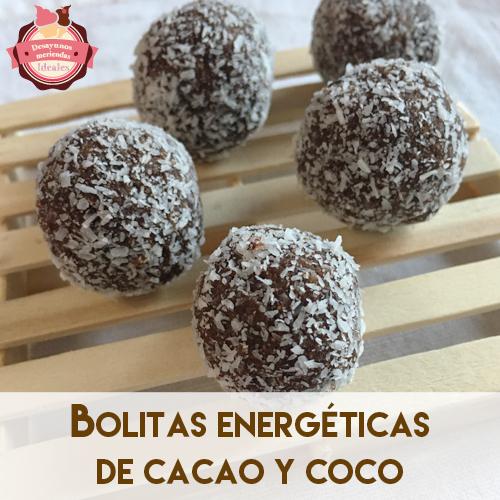 bolitas energeticas de cacao y coco