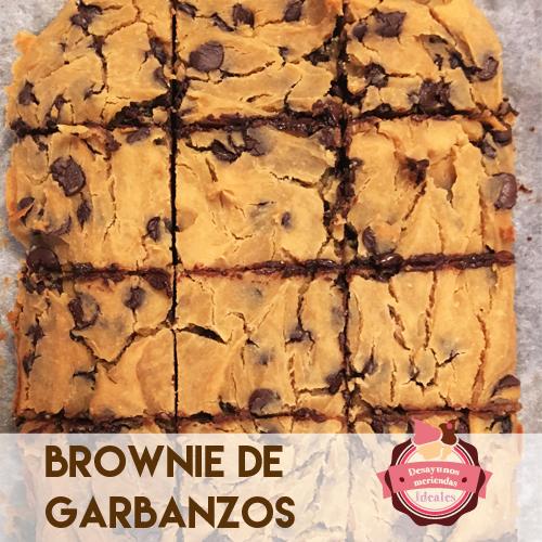 brownie de garbanzos