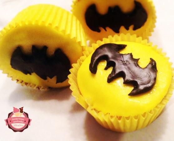 cupcakes batman sin huevo