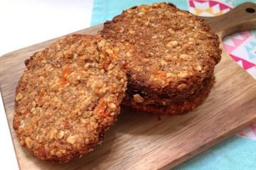 galletas de avena y zanahoria