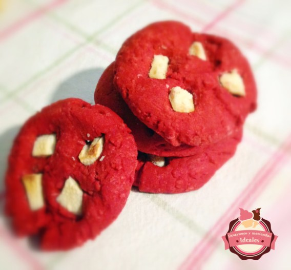 galletas red velvet y chocolate blanco