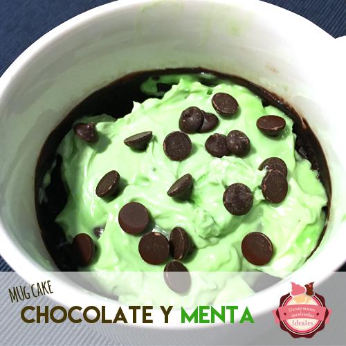 mug cake chocolate y menta