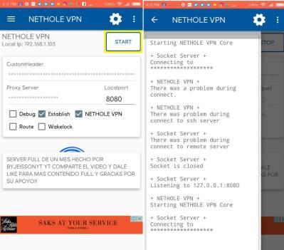 conectar nethole vpn apk gratis en android 2018