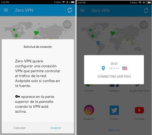 conectar zero vpn premium vip apk android gratis