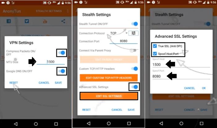 configuracion de anonytun vpn para aumentar la velocidad mejorar la velocidad