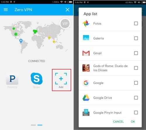 configurar zero vpn para tener internet gratis android