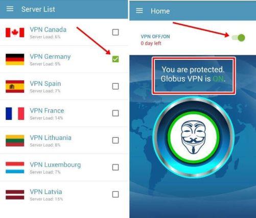 descargar globus vpn pro android