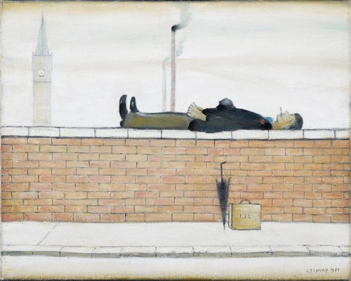 man_lying_on_a_wall_lowry