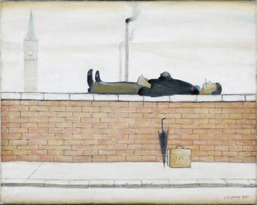 man_lying_on_a_wall_lowry