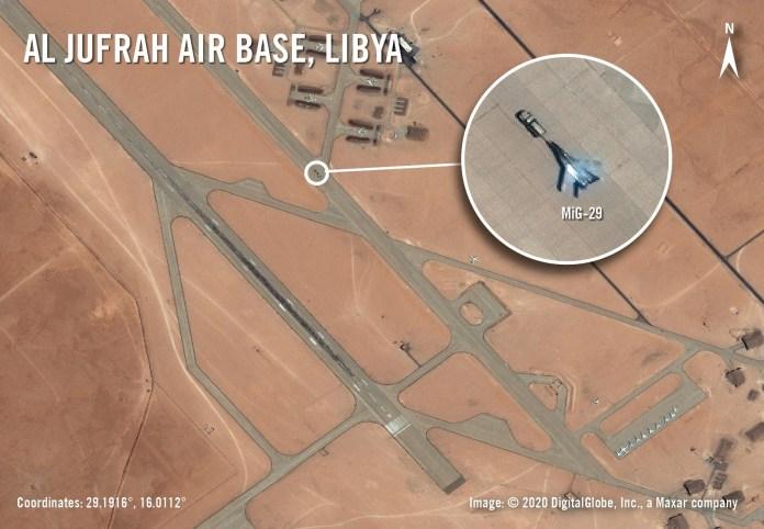 MiG-29 en la base de Al-Jufra [19/05/2020]