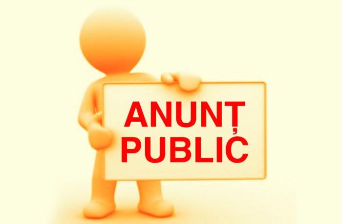 Anunt licitație publică