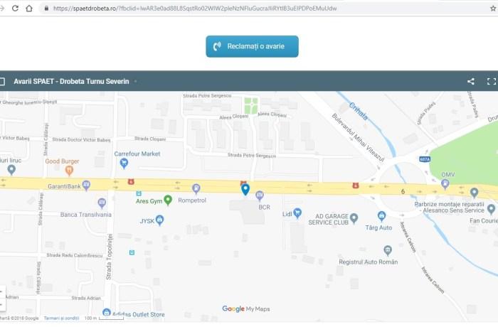 Avariile apărute pe rețea de transport a agentului termic, la un click distanță! Vezi aici cum funcționează aplicația